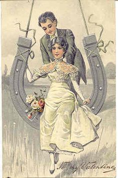 Vintage wedding postcards would make a lovely display with your guest book.
