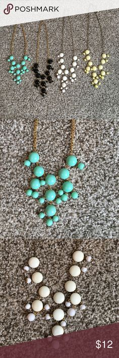 Bubble Necklaces Yellow, white, black, and turquoise bubble necklaces - all included in listing Jewelry Necklaces