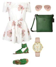 """Outfit romántico femenino"" by maria-jose-aramburu-argandar on Polyvore featuring moda, Coach, D&G, Kate Spade y Ray-Ban"
