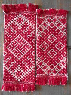 woven bookmarks. Lielvardes josta's motif