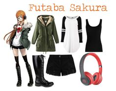 """Futaba Sakura"" by maplesyrup246 ❤ liked on Polyvore featuring Twenty, Pierre Balmain, Mark & Maddux and Beats by Dr. Dre"