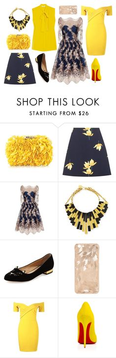 don't like yellow, but by dodo85 on Polyvore featuring Chi Chi, Boohoo, Marni, Charlotte Olympia, Corto Moltedo and Ashley Pittman