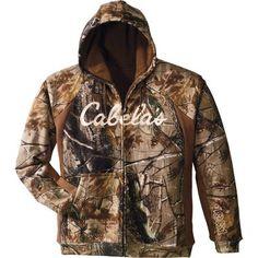 Cabela's Berber-Lined Full-Zip Hoodie - Melonade (3XL) $69.99