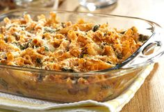 Three Cheese Baked Ziti with Spinach Recipe - Prep this casserole ahead of time & store covered in the fridge until you're ready to bake it!