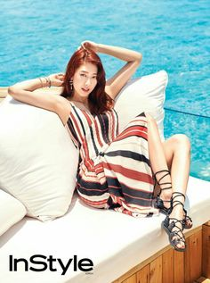 Park Shin Hye is gorgeous in the Maldives for a summer photoshoot with 'InStyle' Park Shin Hye, Gwangju, Korean Beauty, Asian Beauty, Park Pictures, Instyle Magazine, Korean Actresses, Korean Actors, Asia Girl