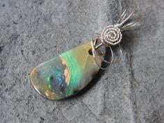 Opalanhänger - Boulder Opal - Anhänger von Blickfang2 auf DaWanda.com
