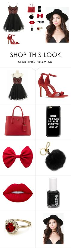 """""""The Devil Wears Prada"""" by cherrysama101 on Polyvore featuring Alice + Olivia, Schutz, Prada, Casetify, Chanel, MICHAEL Michael Kors, Lime Crime and Essie"""