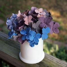 diy polymer clay hydrangea bouquet!