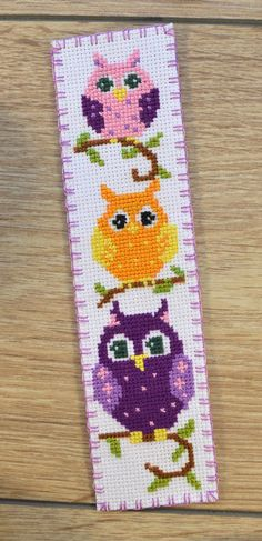 Most recent Pictures Cross Stitch bookmarks Concepts Owls Bookmark handmade gift – Cute cross-stitch Bookmark Owls Cross Stitch Owl, Cross Stitch Bookmarks, Cross Stitch Designs, Cross Stitching, Cross Stitch Patterns, Cross Designs, Embroidery Designs, Cute Embroidery, Cross Stitch Embroidery