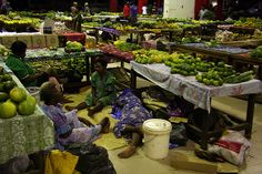 The markets in Vanuatu are quite spectacular. So many people, fresh produce, and colour! A lot of the locals travel looong distances to sell their produce at the markets, and it's quite normal to see them sleeping under their tables, until their produce is all sold!
