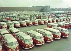 Holy parking lot full of VW glory!