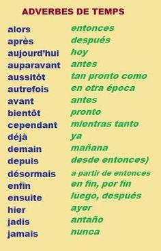 adv de temps français/espagnol
