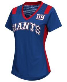 a63104b31 G-iii Sports Women s New York Giants Wildcard Jersey T-Shirt - Blue XL