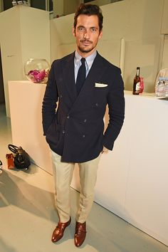 David Gandy attends the Oliver Spencer show during The London Collections Men at the BFC Show Space on June 10 2016 in London England David Gandy Style, David James Gandy, Emma Willis, Elizabeth Hurley, Luke Evans, Rosie Huntington Whiteley, Dolce & Gabbana, Look Con Skinny Jeans, Paige Denim