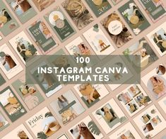 100 Instagram Post Story Templates Earth Canva Templates IG | Etsy