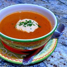 One Perfect Bite: Here Come the Americans - Roasted Eggplant and Red Pepper Soup