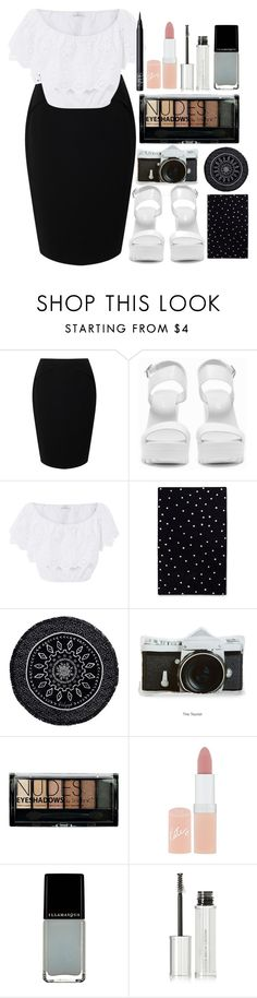 """""""party"""" by lipsy-look ❤ liked on Polyvore featuring Jacques Vert, Nly Shoes, Miguelina, Kate Spade, The Beach People, Boohoo, Rimmel, Illamasqua, Givenchy and NARS Cosmetics"""