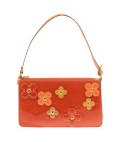 This Louis Vuitton Blood Orange Vernis Leather  Lexington Flower Pochette Bag is now available on our website for $200.00. Check out our full collection of authentic Louis Vuitton items at http://cashinmybag.com/?s=louis+vuitton&post_type=product. Our bags do sell quickly. But don't worry, new items are listed daily.