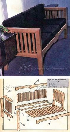 Knock Down Couch Plans - Furniture Plans and Projects | WoodArchivist.com
