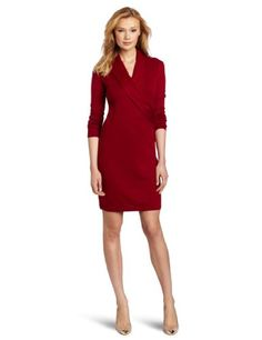 Evan Picone Women's Long Sleeve Faux Wrap Dress « Dress Adds Everyday