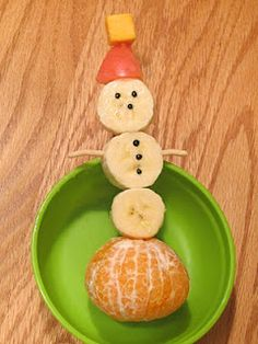 Banana Snowman - perfect for toddlers and young kids