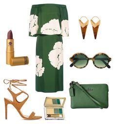 """Olive and Camel"" by mara-bernardone on Polyvore featuring moda, TIBI, Cutler and Gross, Theodora Warre, Estée Lauder e Coach"