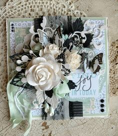 Beautiful Handmade Mint Green Shabby Chic Encouragement