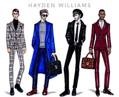 Menswear 2015 collection by Hayden Williams