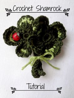 Little Treasures: Crochet Shamrock Tutorial - free