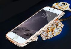 """Buy Metal Frame case cover with diamond for iPhone6 4.7"""""""