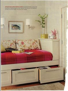 Office & Guest room utilize under bed storage  (Better Homes & Gardens 2009)