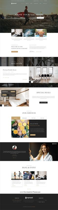 Nanovi is clean and modern design PSD #template for #hotel and #resorts website with 27 layered #PSDfiles to live preview & download click on image or Visit