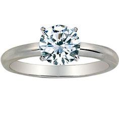 1/3 Carat Round Cut Diamond Solitaire Engagement Ring Platinum 4 Prong (F-G, SI1-SI2, 0.3 c.t.w) Very Good Cut... - List price: $2,743.80 Price: $807.00 Saving: $1,936.80 (71%)