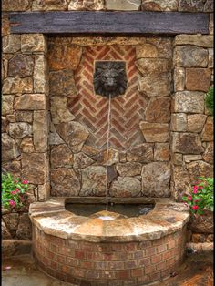 Wall fountain design
