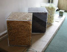 Sasha Sykes resin cubes.  Other nice art furniture on this link