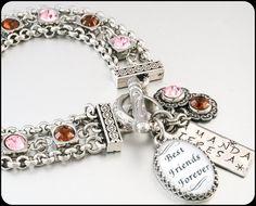 The Ultimate Best Friends Charm Bracelet by BlackberryDesigns, $76.00