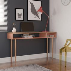 The simple, contemporary style of the Manhattan Comfort Emma Console Table makes it perfect for updating any living room, entryway, or home office. This piece features both open and concealed storage compartments for added convenience. Melamine Wood, Modern Console Tables, Table Sizes, Living Styles, Find Furniture, Entertainment Room, Contemporary Style, A Table, Shelves