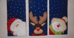 Estos cuadros los realice con una nueva técnica. Christmas Arts And Crafts, Christmas Rock, Christmas Flowers, Christmas Makes, Christmas Fabric, Merry Little Christmas, Christmas Time, Christmas Decorations, Christmas Ornaments