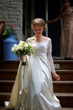 Lisa was the perfect picture of a bride as she left the house. It was time to get married!