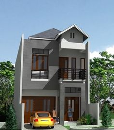Desain Rumah Minimalis Modern Type 45 2 Lantai - Rumah Minimalis
