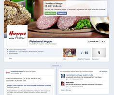 Für die Fleischerei Hoppe erstellte ich eine Fanseite bei Facebook. Regelmäßig werden die treuen Kunden über laufende Angebote und Veranstaltungen informiert. Außerdem gibt es immer mal wieder einen interessanten Artikel oder ein Video zum Nachdenken.