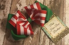 Items similar to Christmas hair bow Perfect for The holiday season with babys first Christmas on Etsy Christmas Hair Bows, Christmas Ornaments, Pink Hair, Gift Wrapping, Holiday Decor, Unique Jewelry, Handmade Gifts, Vintage, Etsy