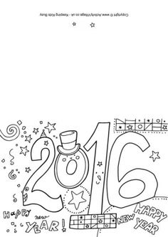 2016 Coloring pages and cards