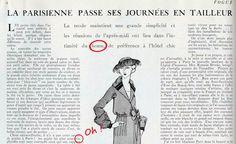 La Parisienne passe ses journées en tailleur