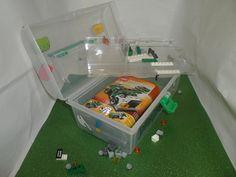 Lego Ninjago Personalized Portable Activity Kit Storage Lego Gift Holder Customized Lego Box for Boys and Girls. $14.99, via Etsy.