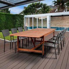 Wicker Dining Set, Outdoor Dining Set, Patio Dining, Outdoor Tables, Outdoor Furniture Sets, Outdoor Decor, Dining Sets, Dining Area, Outdoor Living