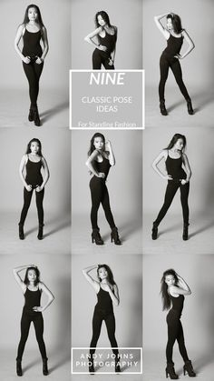 9 Classic Pose Ideas for Standing Fashion.  These standing pose idea will take your fashion modeling game to the next level!