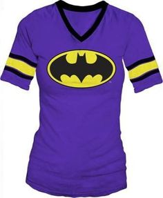 Amazon.com: DC Comics Batman Hockey Juniors V-Neck Purple T-shirt Tee: Clothing