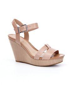 Gianni Bini Pypers Raffia Wedge Sandals   Dillard's Mobile