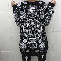 Fashion HARAJUKU killstar five pointed star hexagram skull geometrypunk hip hop women loose long sleeve shirt sweatshirt men top-inT-Shirts from Women's Clothing & Accessories on Aliexpress.com | Alibaba Group